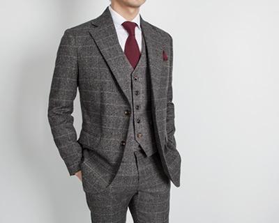 브루노 윈터 체크 suit [울40%]