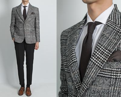 쿠치넬 글랜체크 suit